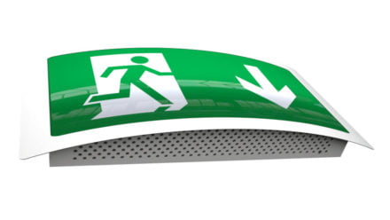 Curved LED Exit Sign