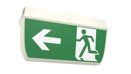 Weatherproof exit sign
