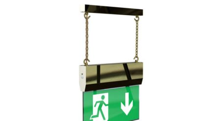 Brass hanging exit