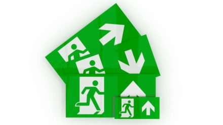 Replacement exit signs