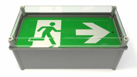 Wall weatherproof exit sign X-ESW